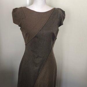 Zac Posen Short Sleeve Knee Length Dress